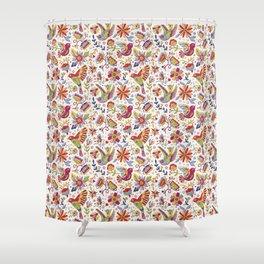 Otomi folk Shower Curtain