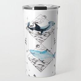 sharks & arrows Travel Mug