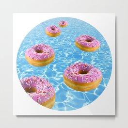 Donut Float Metal Print