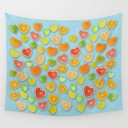 Juicy Hearts Wall Tapestry