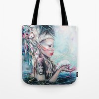 rat Tote Bags featuring Yolandi The Rat Mistress 	 by Tanya Shatseva