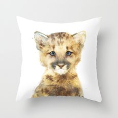 Little Mountain Lion Throw Pillow