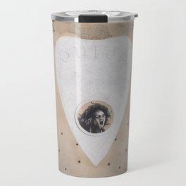 Ouija Planchette with Screaming Spirit Stuck Inside with Stars Travel Mug