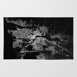 vancouver map canada Rug