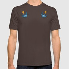 Swallow Tattoo Mens Fitted Tee Brown LARGE