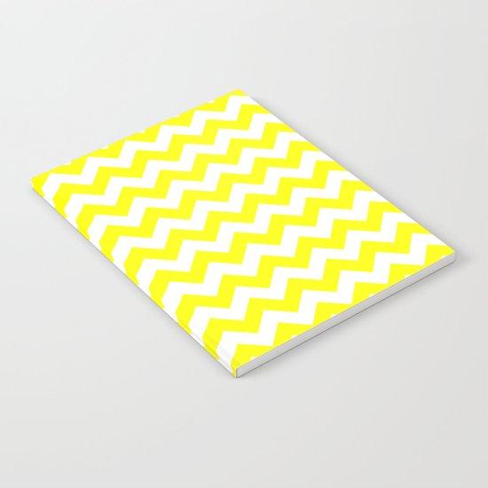 Chevron (Yellow/White) Notebook