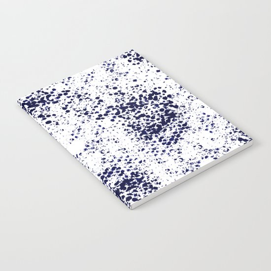 Indigo Splash abstract minimal white and blue nautical water painterly painting monochromatic art Notebook