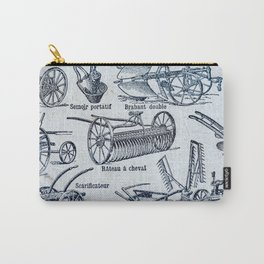 Even More French Farm Tools Carry-All Pouch