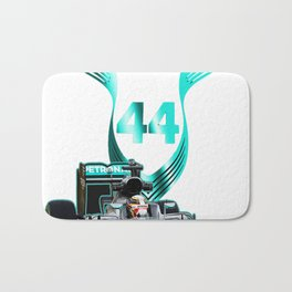 Lewis Hamilton F1 with LH 2016 44 car Bath Mat