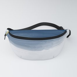 Blue abstract brush strokes pattern Fanny Pack