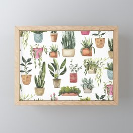 Potted Succulents Framed Mini Art Print