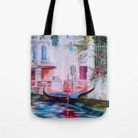 venice Tote Bags featuring Venice by OLHADARCHUK
