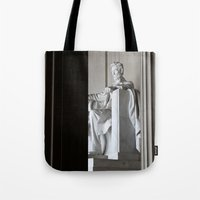 lincoln Tote Bags featuring Lincoln.  by Jeska Speck