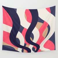 coral Wall Tapestries featuring Coral by Raluca Ag