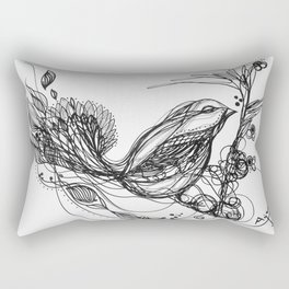 Bird Between the Lines Rectangular Pillow