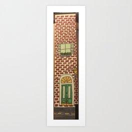 Brick building Art Print