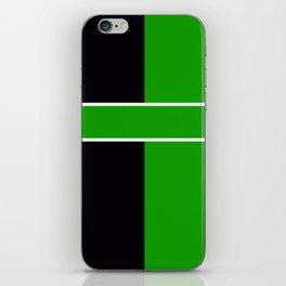 Team Color 6...Green,black iPhone Skin