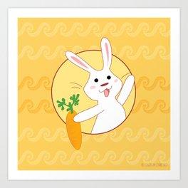 Carrot Time! Art Print