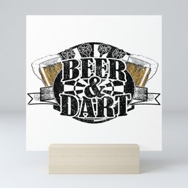 Darts WM Darts Beer Arrow Dartboard Gift Mini Art Print