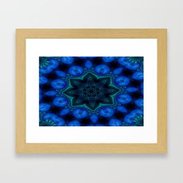 Battling At The Chasm Mandala 7 Framed Art Print