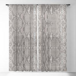 Python Snakeskin Print Sheer Curtain
