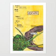 Heatwave / Weave Hat Art Print