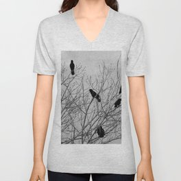 Murder Of Crows - Four Unisex V-Neck