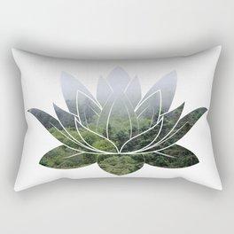 Forest Photography Lotus Rectangular Pillow
