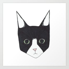 Henry the Tuxedo Cat Art Print