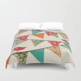 Home Birds 'N' Bunting. Duvet Cover