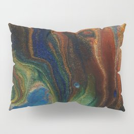 Earth Fire Lava Flow Cells Pillow Sham