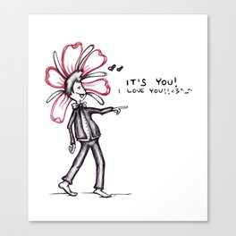 """""""It's You! I Love You!!"""" Flowerkid Canvas Print"""