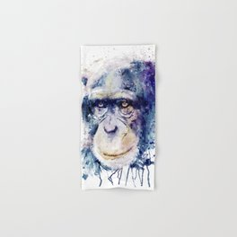 Watercolor Chimpanzee Hand & Bath Towel
