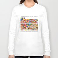 muppets Long Sleeve T-shirts featuring The Periodic Table of the Muppets by Mike Boon