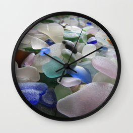 Sea Glass Assortment 6 Wall Clock