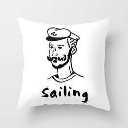 Sailing Seaman Ship Boat Cruise Sea Ozean Seabear Gift Throw Pillow