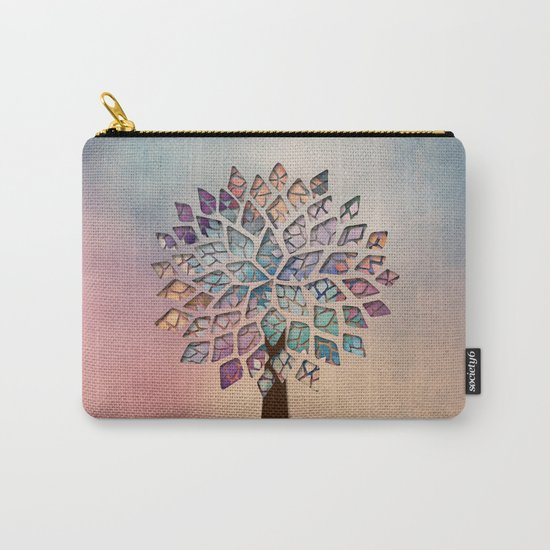 Abstract Petal Tree 2 Carry-All Pouch