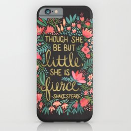 Little & Fierce on Charcoal iPhone Case