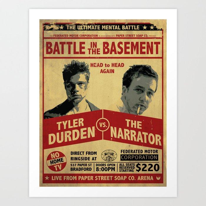 Fight Club Fight Poster Art Print