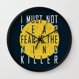 Dune - The Litany Against Fear (WHT) Wall Clock