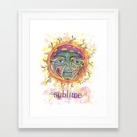 sublime Framed Art Prints featuring Sublime by Rachael Amber