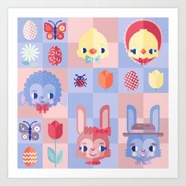 Happy Easter! Pattern Art Print