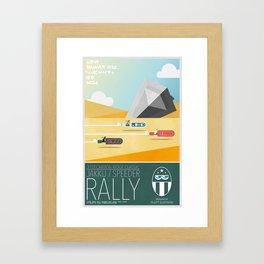 Jakku Speeder Rally Framed Art Print