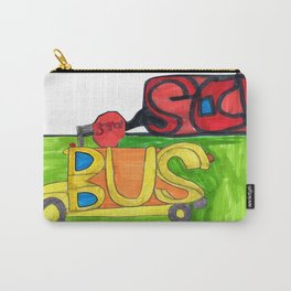 Bus at School Carry-All Pouch
