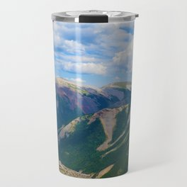 Views from the top of Sulphur Skyline in Jasper National Park, Canada Travel Mug