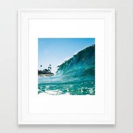 Marine St Curls Framed Art Print