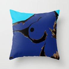 Recline in Blue Throw Pillow