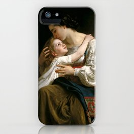 """William-Adolphe Bouguereau """"Getting Up (Le Lever)"""" iPhone Case"""