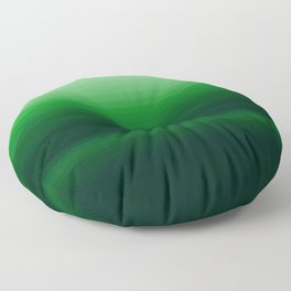 Emerald Green Stripe Design Floor Pillow