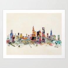 Chicago city  Art Print